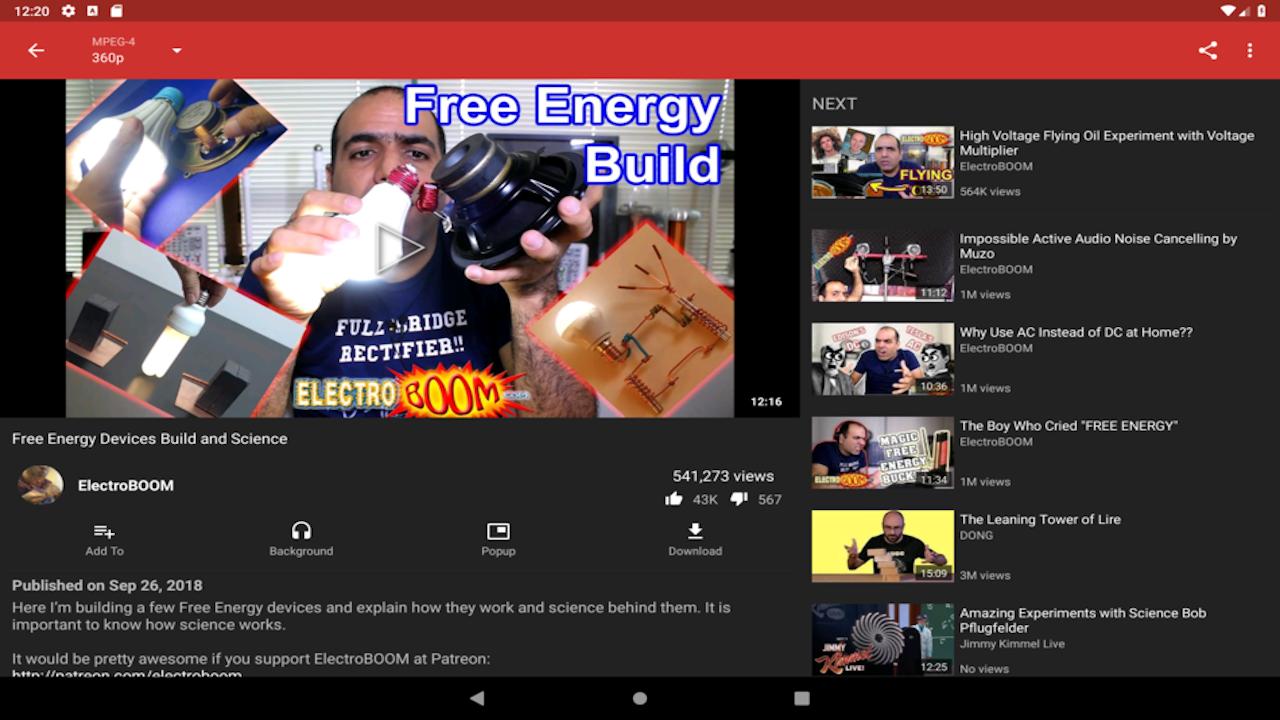 Screenshot of NewPipe Legacy