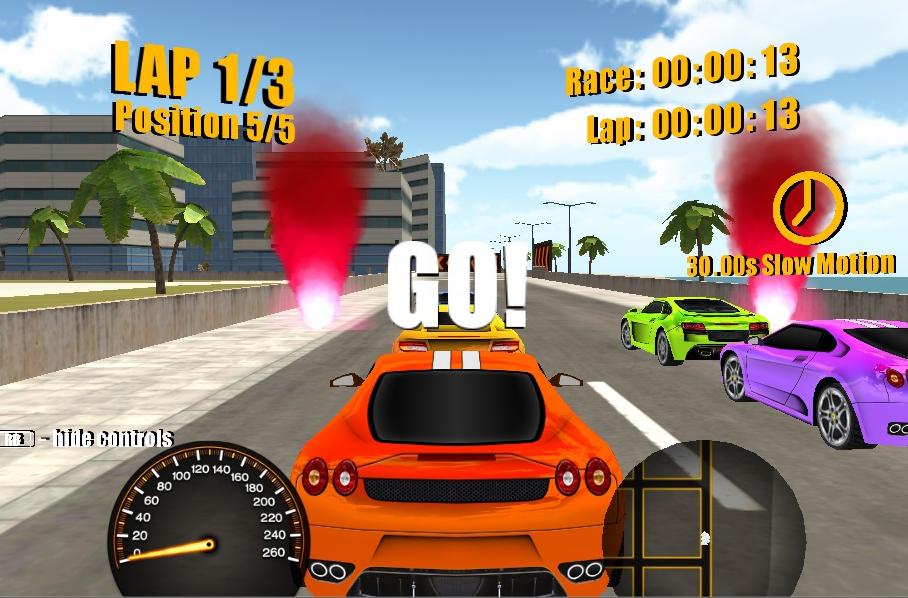 Screenshot of 3D Street Racing