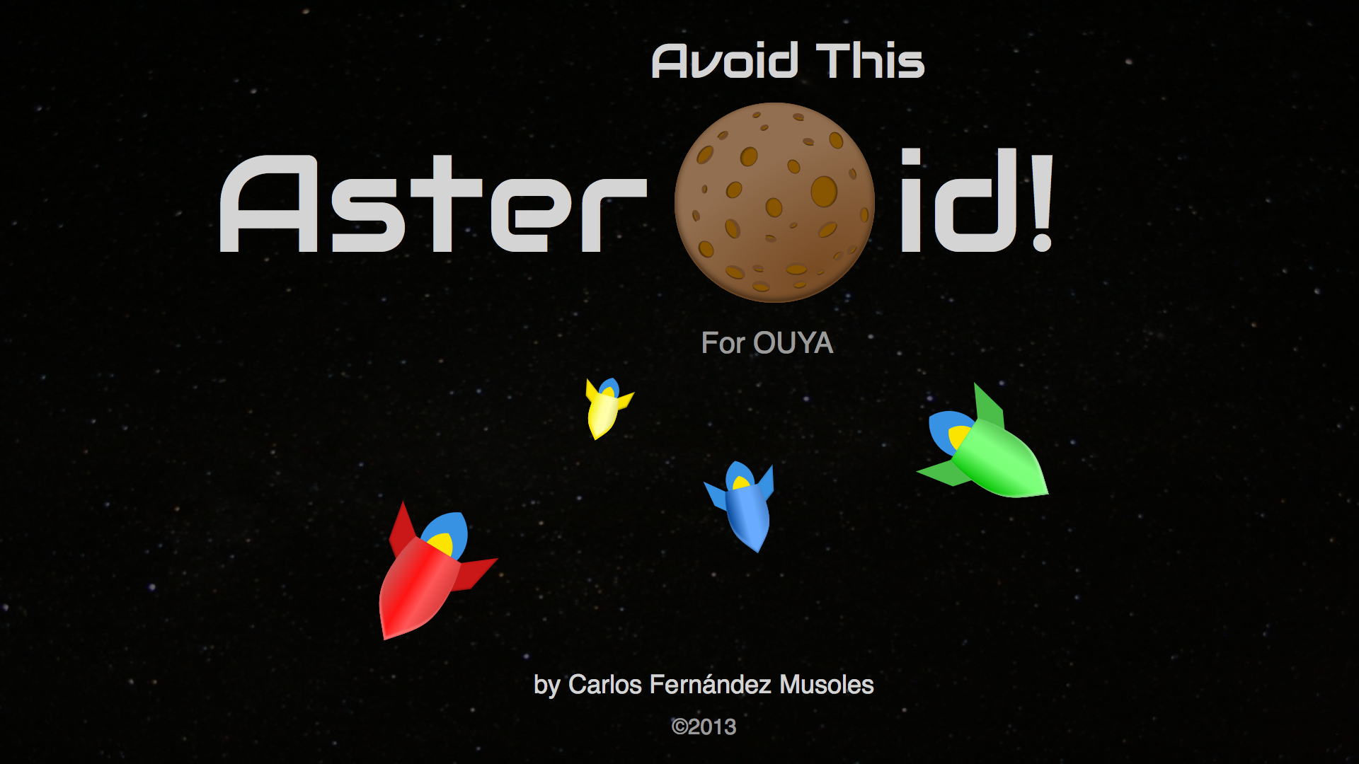 Screenshot of Avoid This Asteroid!