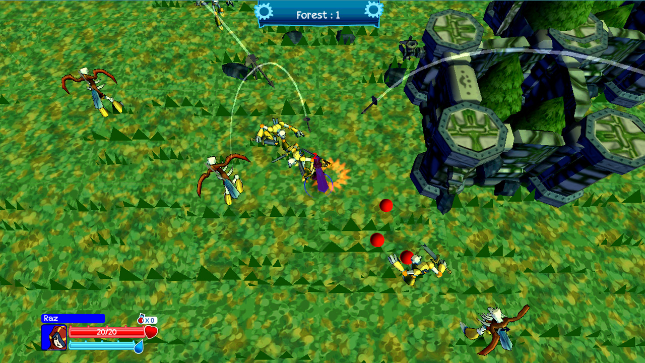 Screenshot of Questria: Rise Of The Robot Skullfaces