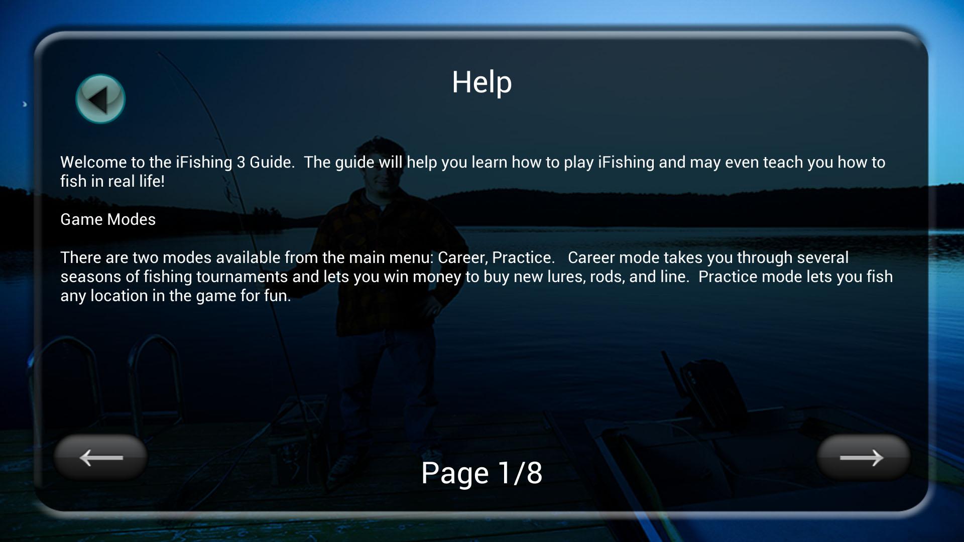 Screenshot of iFishing 3