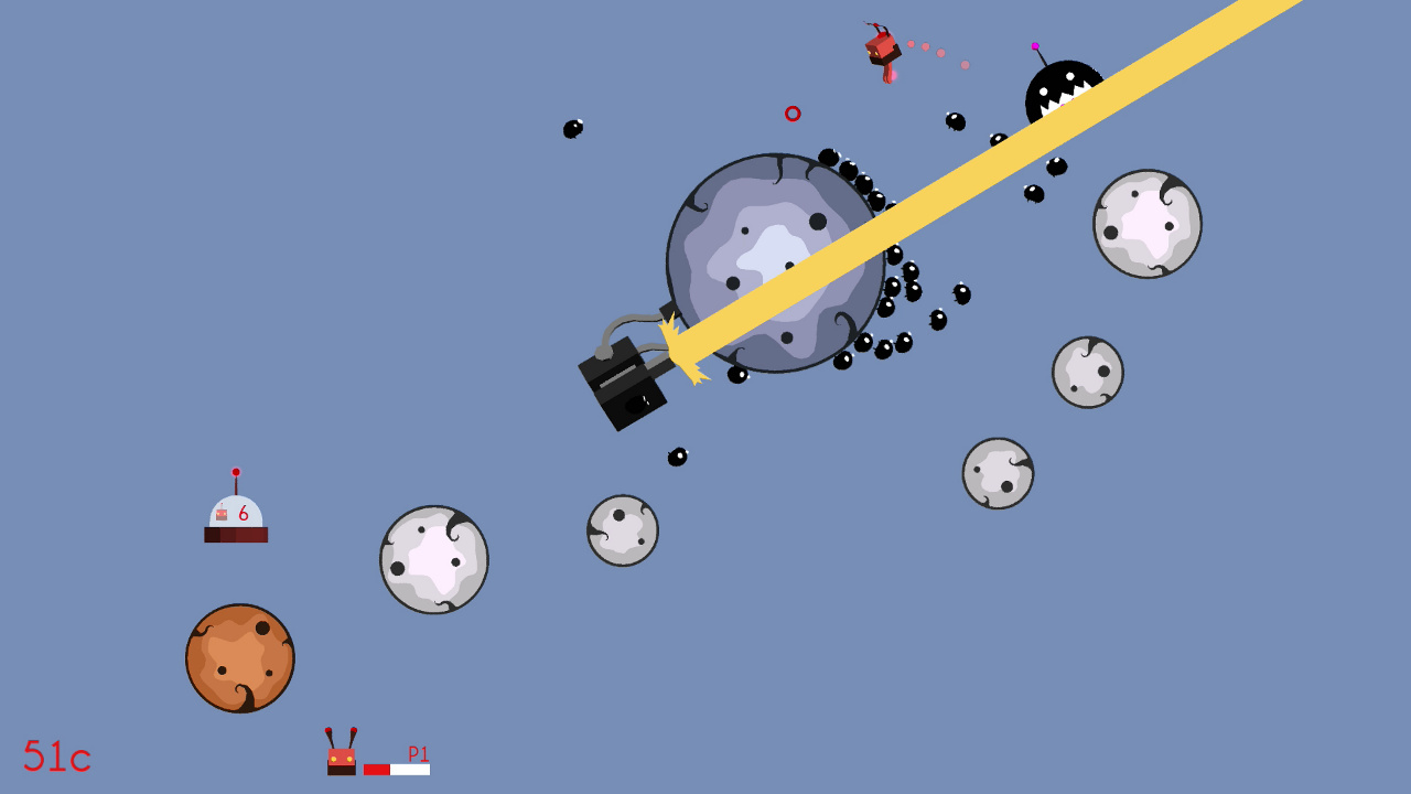 Screenshot of Super Robot Space Fight!