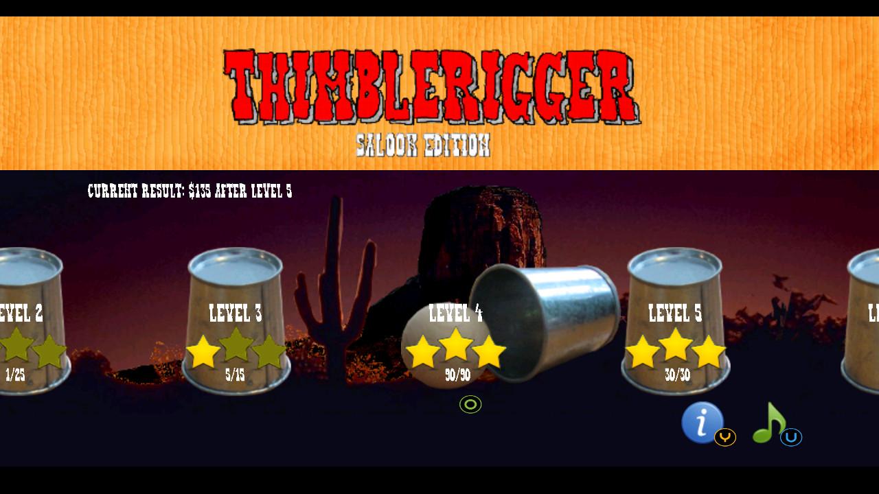 Screenshot of Thimblerigger