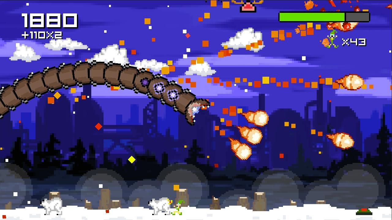 Screenshot of Super Mega Worm Vs Santa Saga