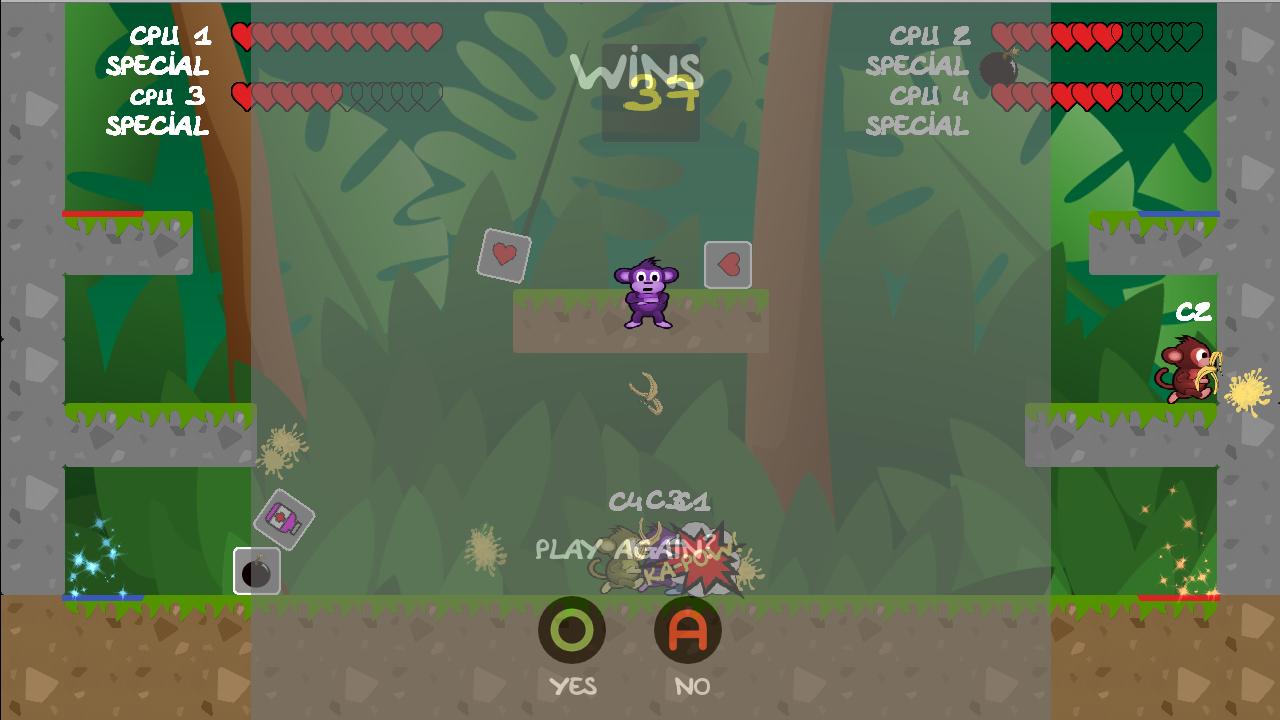 Screenshot of Mad Monkeys