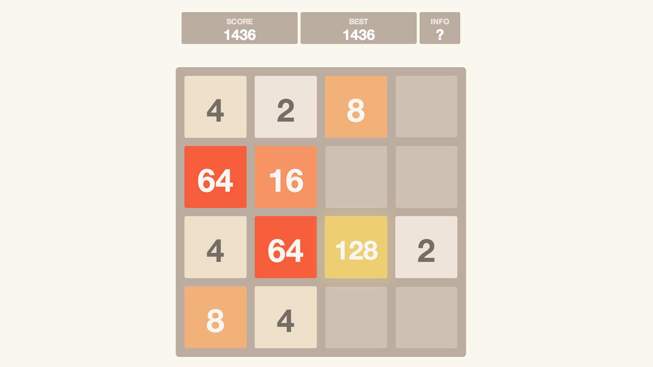 Screenshot of 2048