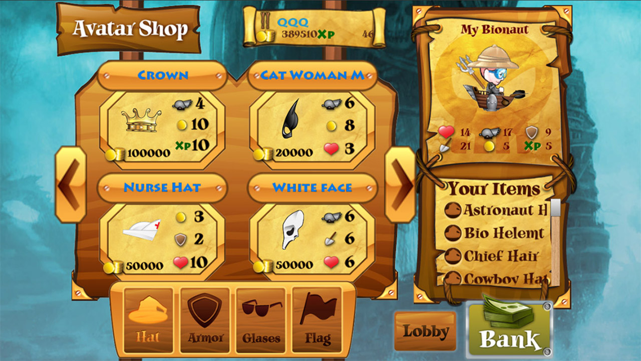 Screenshot of Bionauts Online