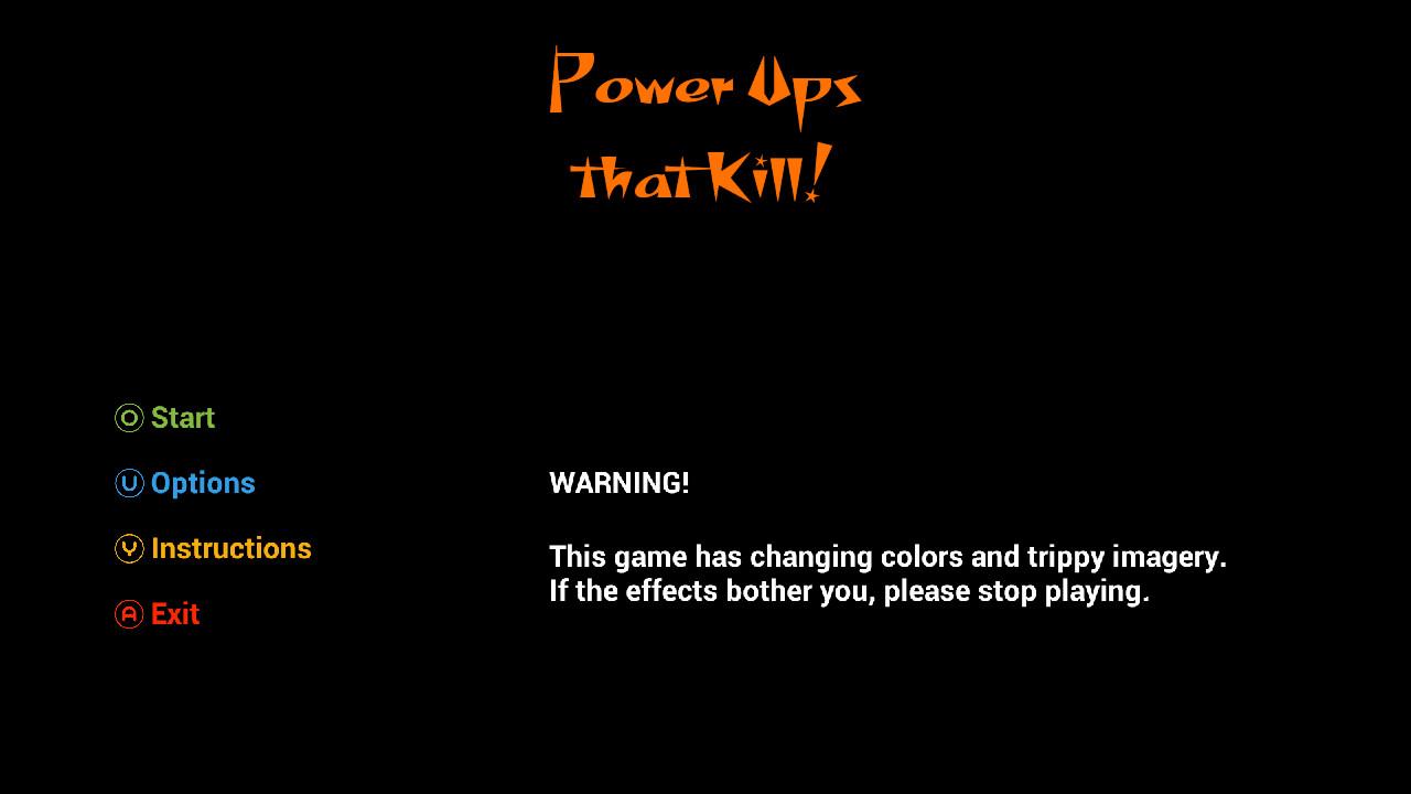 Screenshot of Power Ups that Kill!
