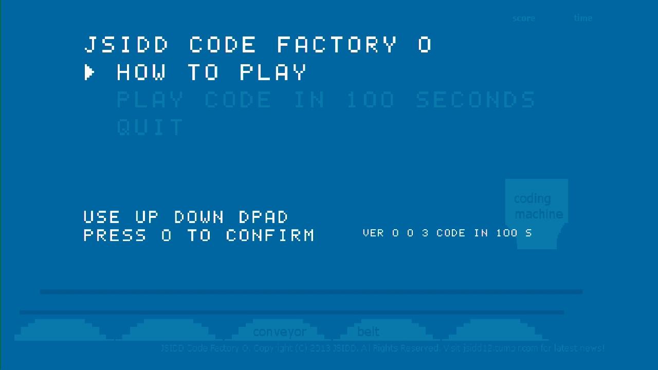 Screenshot of JSIDD Code Factory O