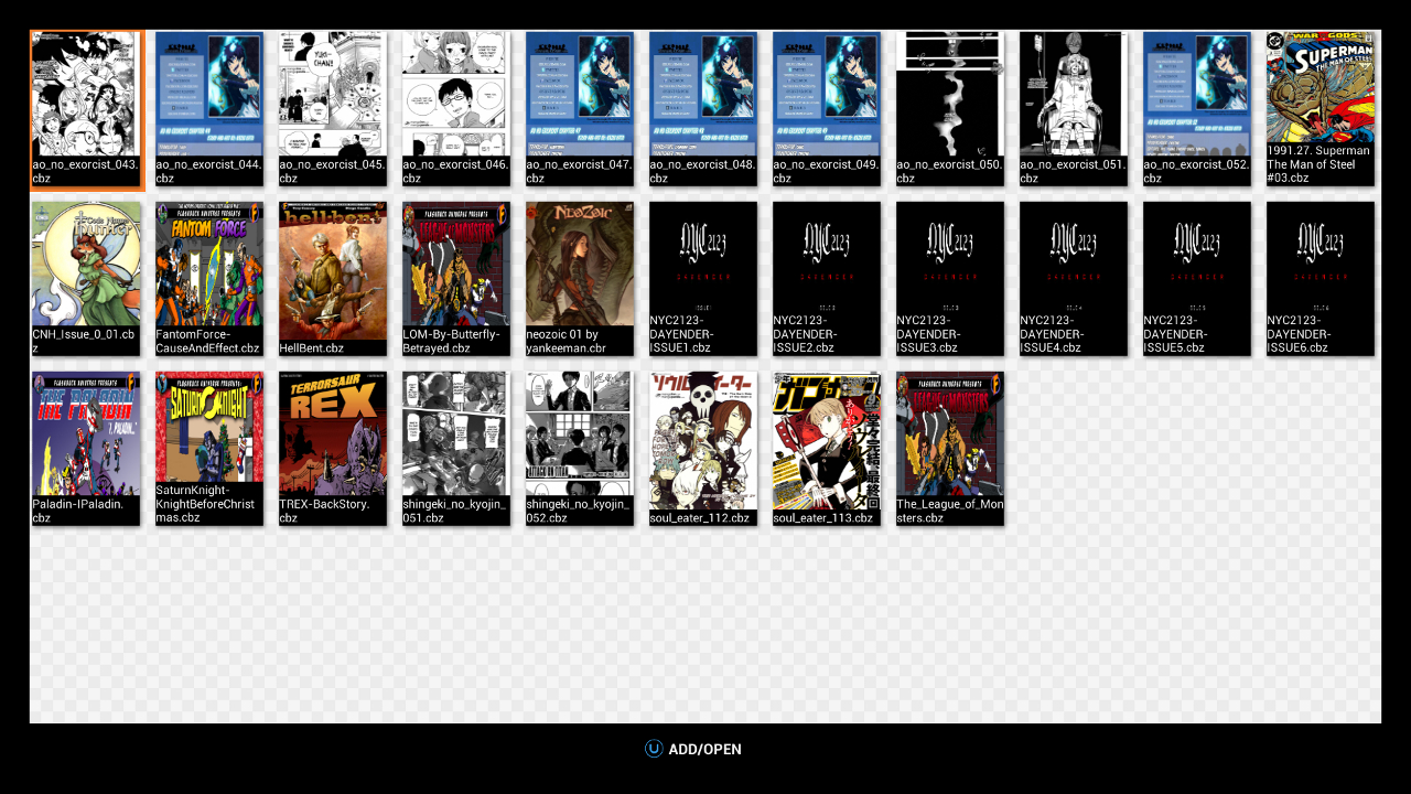 Screenshot of Comic/Manga Reader