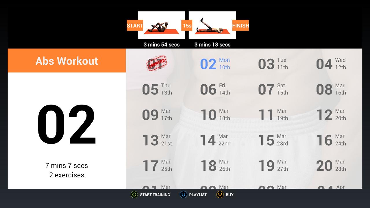 Screenshot of Workout on OUYA